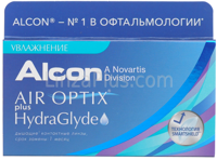 Контактные линзы Air Optix plus HydraGlyde (3 шт)